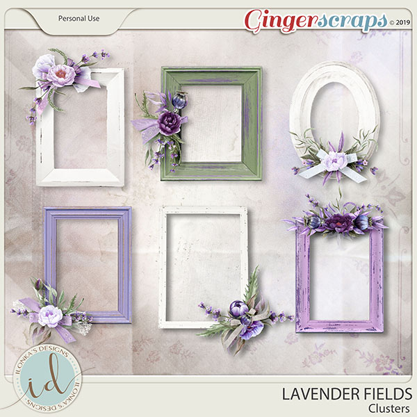 Lavender Fields Clusters by Ilonka's Designs