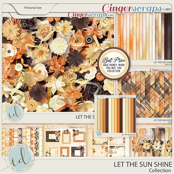 Let The Sun Shine Collection With Free Solid Papers by Ilonka's Designs