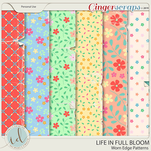 Life In Full Bloom Worn Edge Patterns by Ilonka's Designs