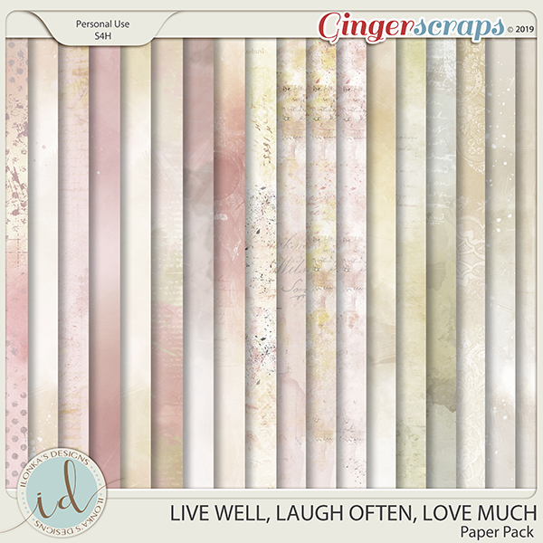 Live Well, Laugh Often, Love Much Paper Pack by Ilonka's Designs