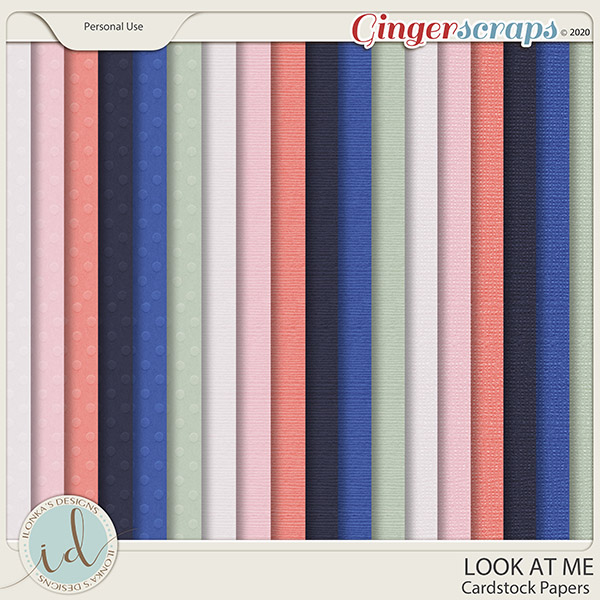 Look at Me Cardstock Papers by Ilonka's Designs