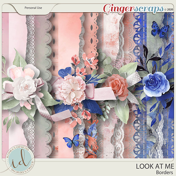 Look at Me Borders by Ilonka's Designs
