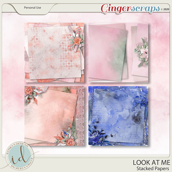Look at Me Stacked Papers by Ilonka's Designs