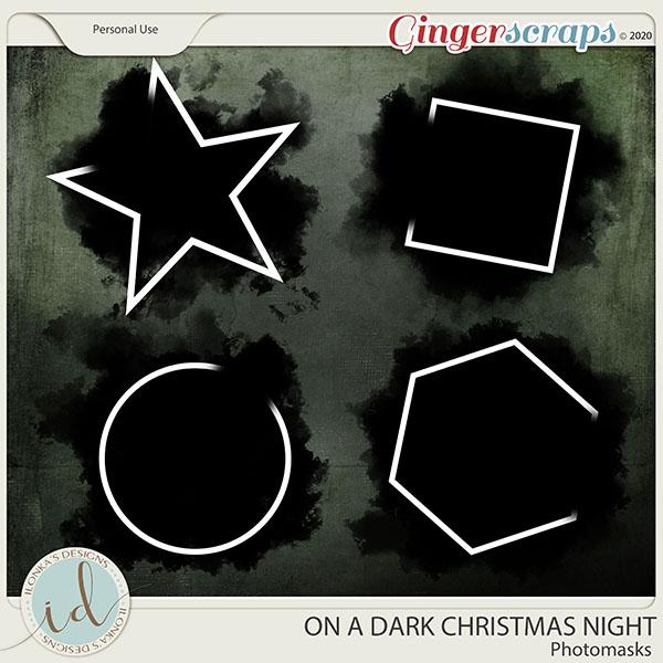 On A Dark Christmas Night Photo Masks by Ilonka's Designs