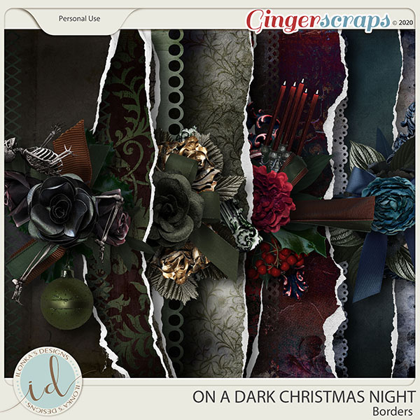 On A Dark Christmas Night Borders by Ilonka's Designs