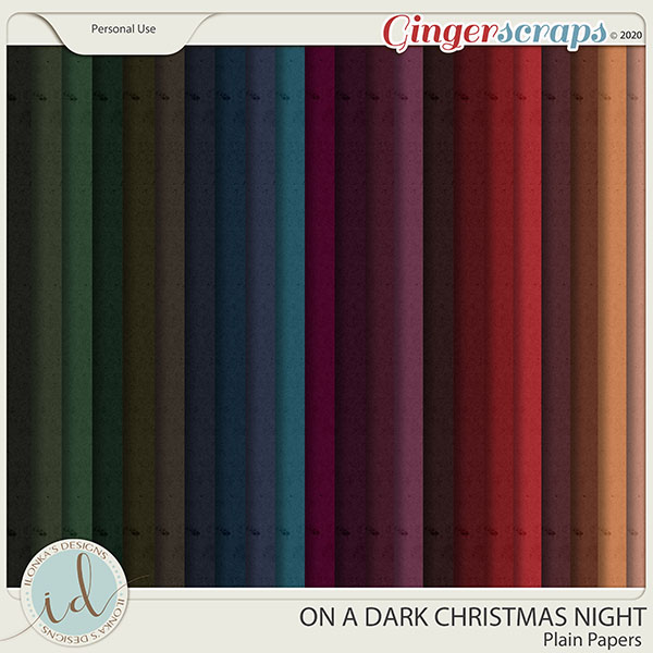 On A Dark Christmas Night Plain Papers by Ilonka's Designs