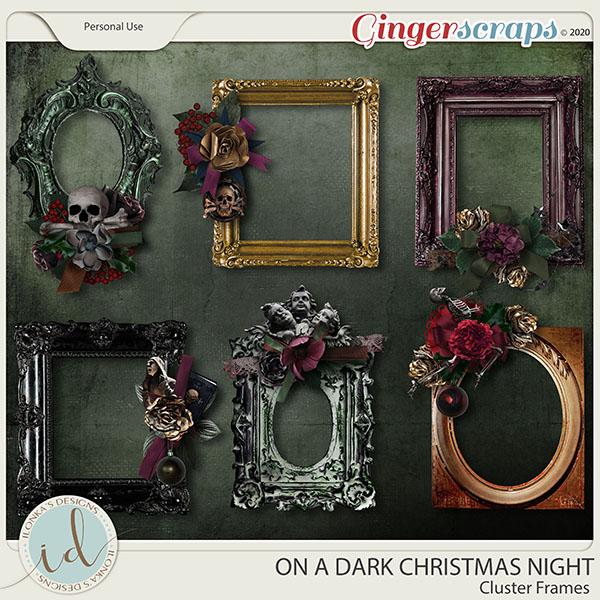 On A Dark Christmas Night Cluster Frames by Ilonka's Designs