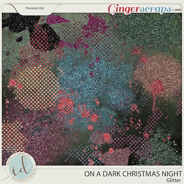 On A Dark Christmas Night Glitter by Ilonka's Designs
