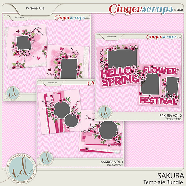 Sakura Template Bundle by Ilonka's Designs