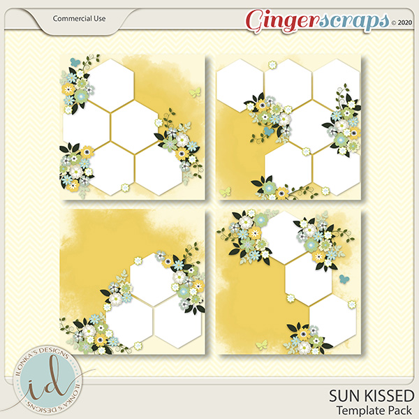 Sun Kissed Template Pack by Ilonka's Designs