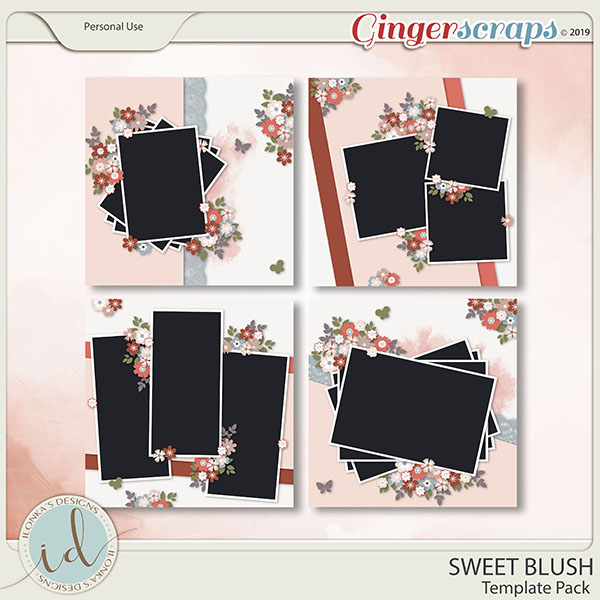 Sweet Blush Template Pack by Ilonka's Designs