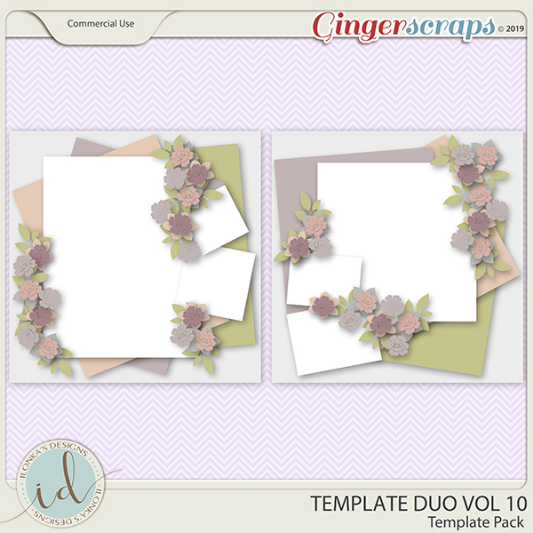 Template Duo Vol 10 by Ilonka's Designs