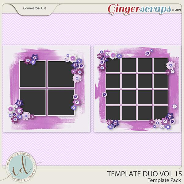 Template Duo Vol 15 by Ilonka's Designs