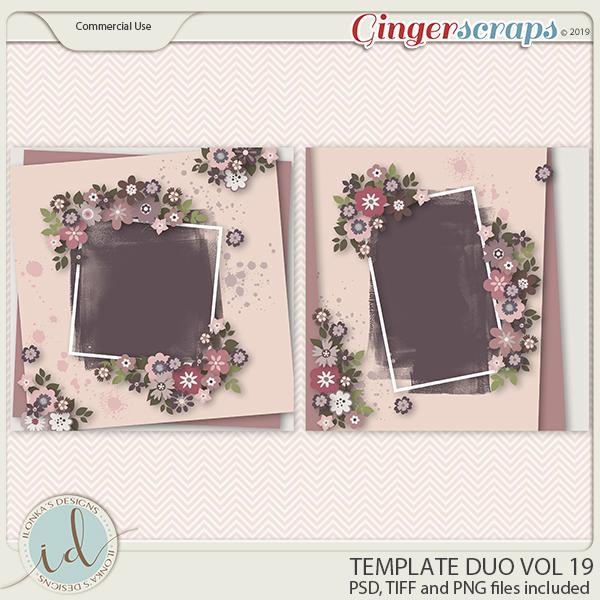 Template Duo Vol 19 by Ilonka's Designs