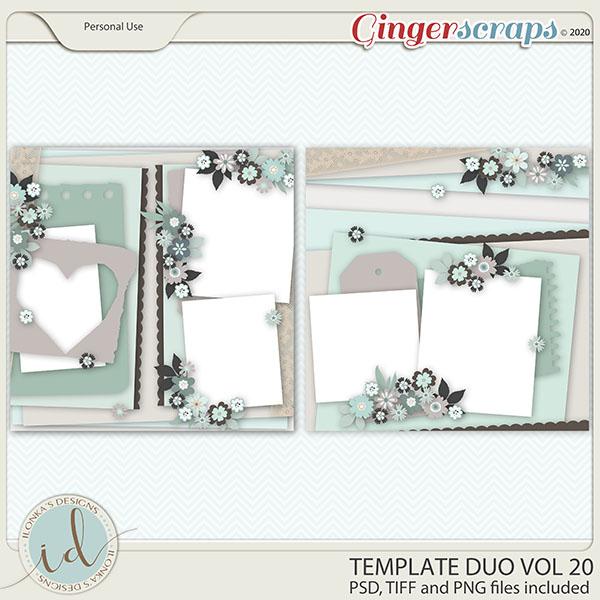 Template Duo Vol 20 by Ilonka's Designs
