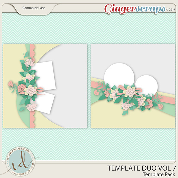Template Duo Vol 7 by Ilonka's Designs