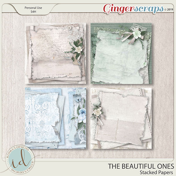 The Beautiful Ones Stacked Papers by Ilonka's Designs
