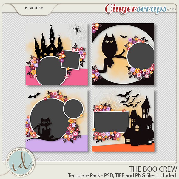 The Boo Crew Template Pack by Ilonka's Designs