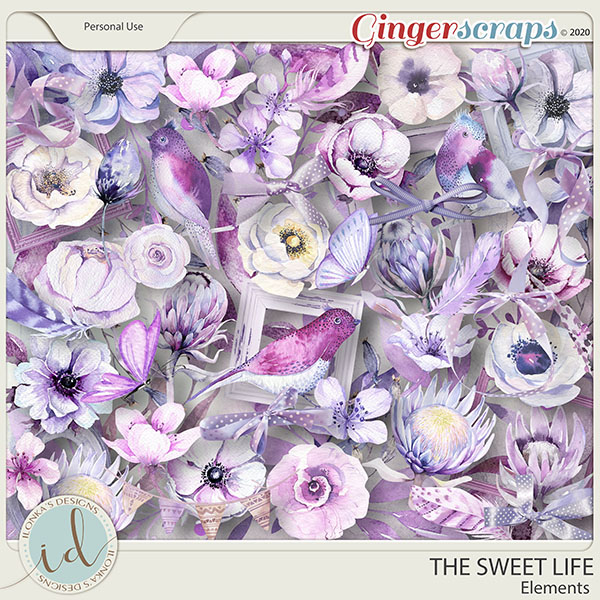 The Sweet Life Elements by Ilonka's Designs