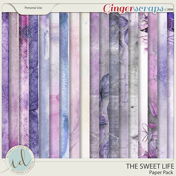 The Sweet Life Paper Pack by Ilonka's Designs