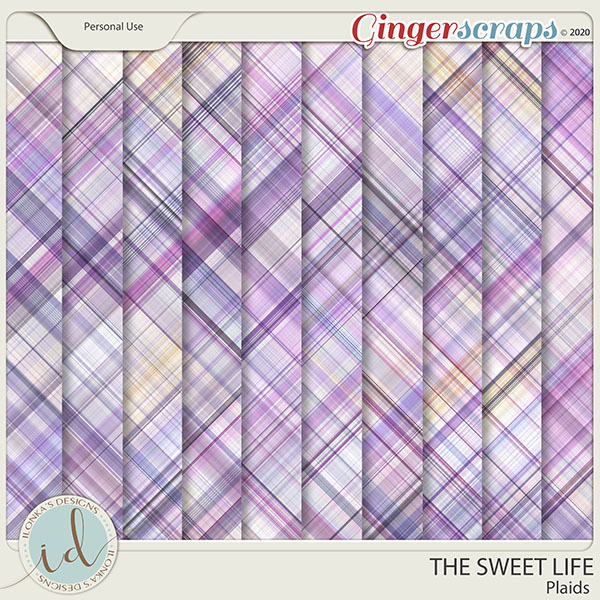The Sweet Life Plaids by Ilonka's Designs