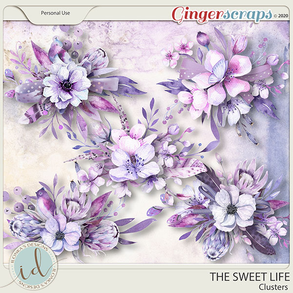 The Sweet Life Clusters by Ilonka's Designs