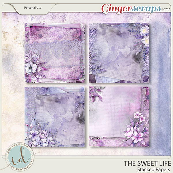 The Sweet Life Stacked Papers by Ilonka's Designs