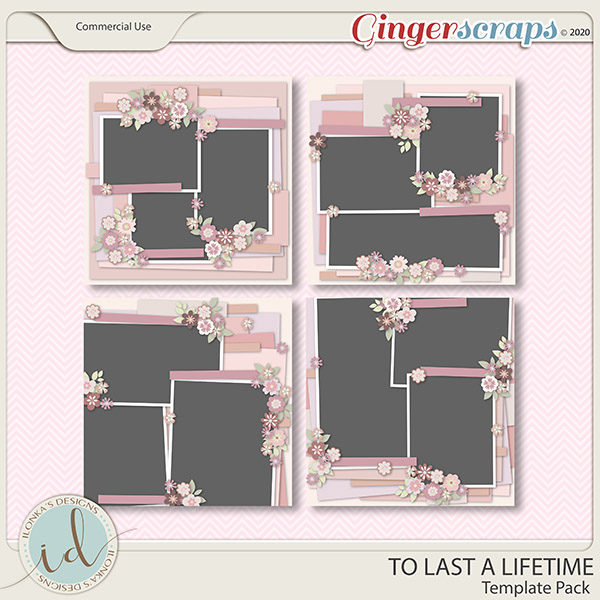 To Last A Lifetime Template Pack by Ilonka's Designs