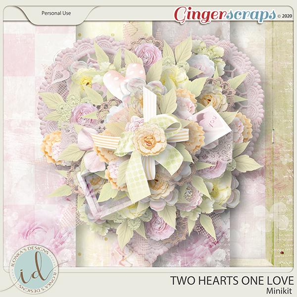 Two Hearts One Love Minikit by Ilonka's Designs