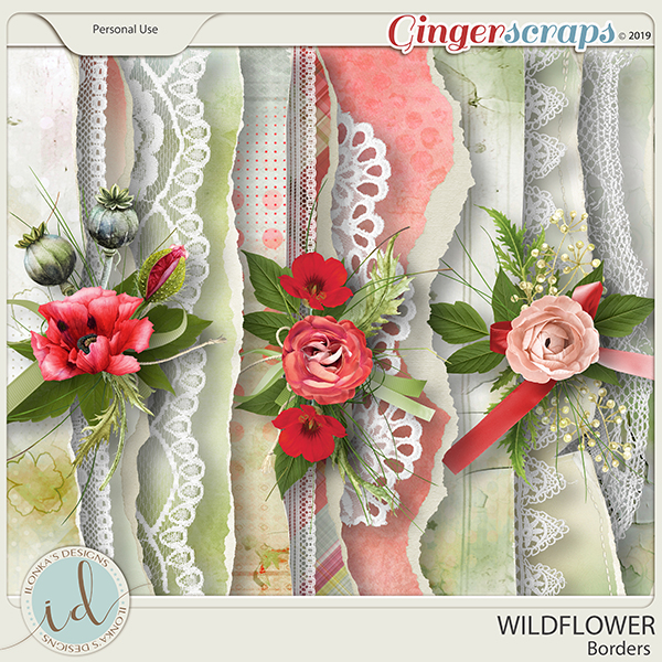 Wildflower Borders by Ilonka's Designs