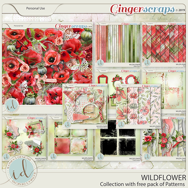 Wildflower Collection With Free Pack Of Patterns by Ilonka's Designs