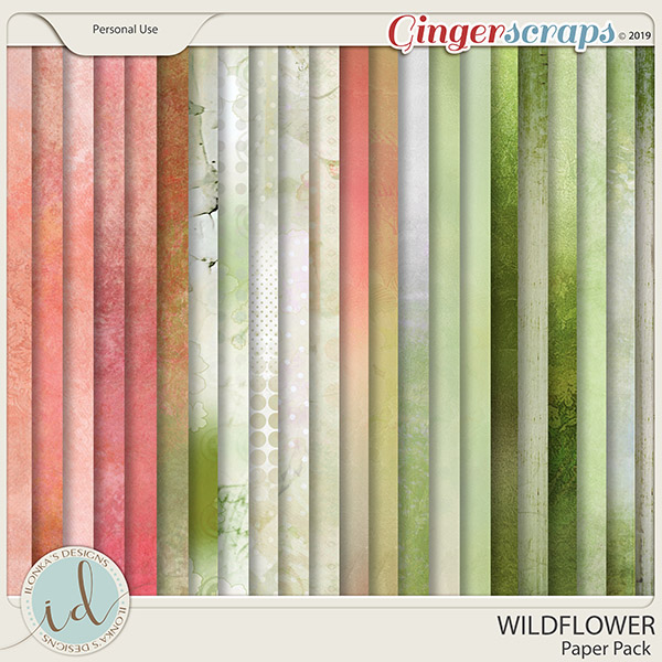 Wildflower Paper Pack by Ilonka's Designs