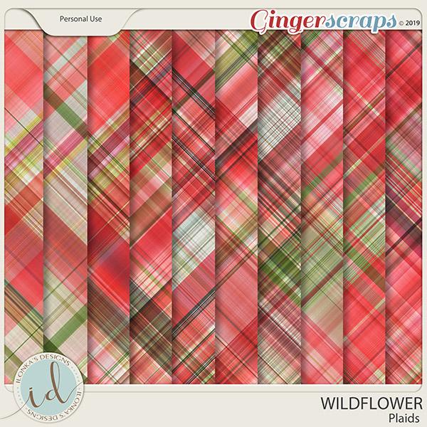 Wildflower Plaids by Ilonka's Designs