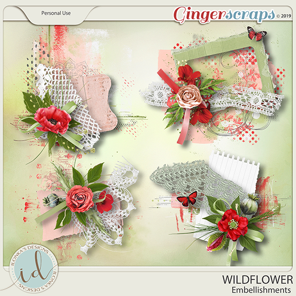 Wildflower Embellishments by Ilonka's Designs