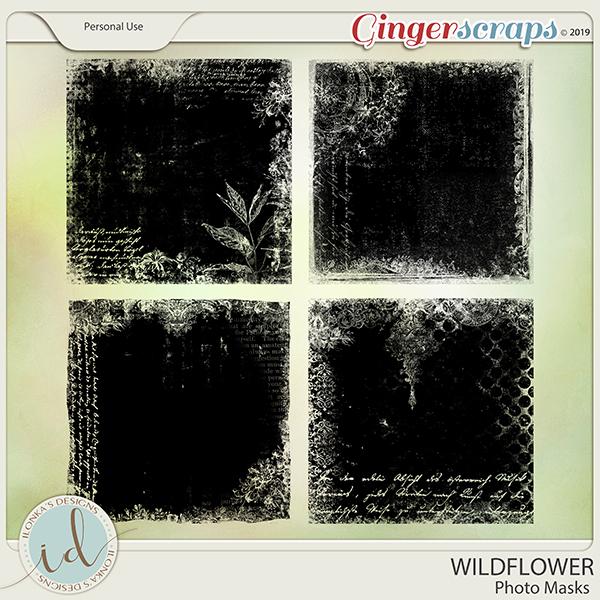 Wildflower Photo Masks by Ilonka's Designs