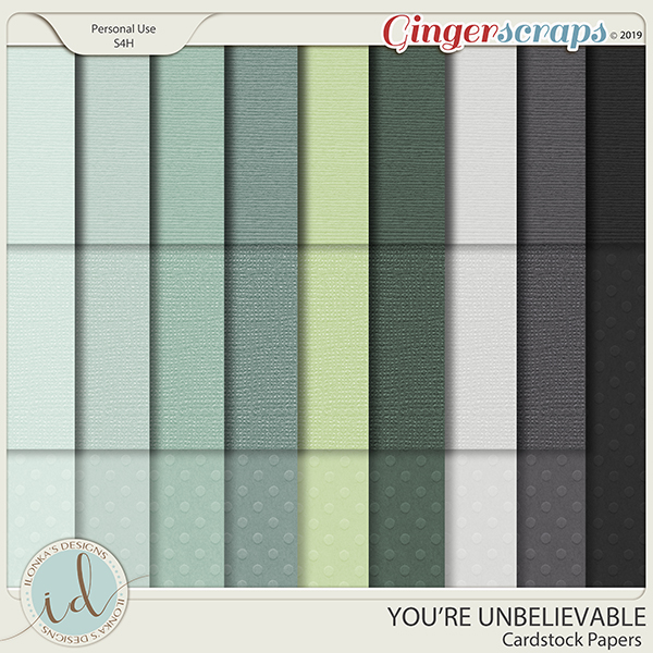 You're Unbelievable Cardstock Papers by Ilonka's Designs