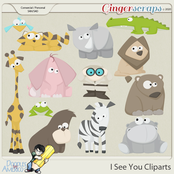 Doodles By Americo: I See You Cliparts