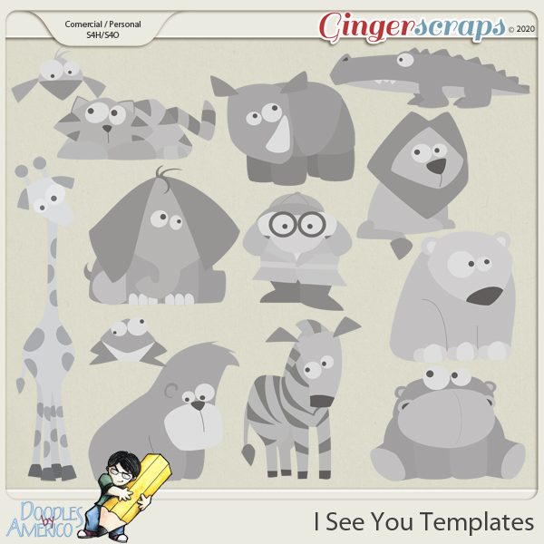 Doodles By Americo: I See You Templates