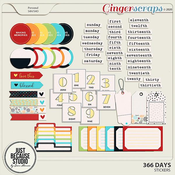 366 Days Stickers by JB Studio