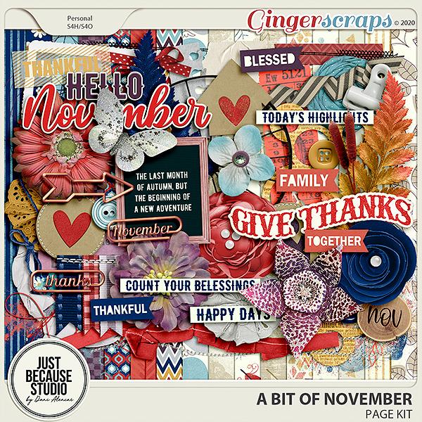 A Bit Of November Page Kit by JB Studio