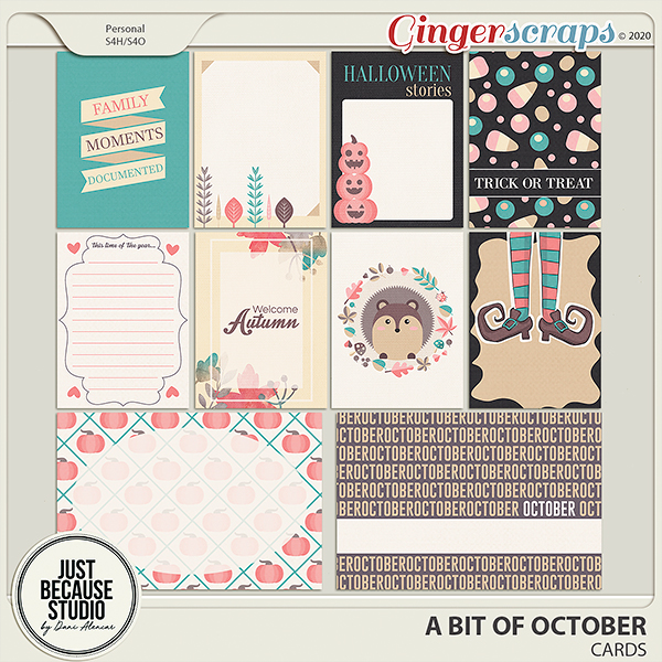 A Bit of October Cards by JB Studio