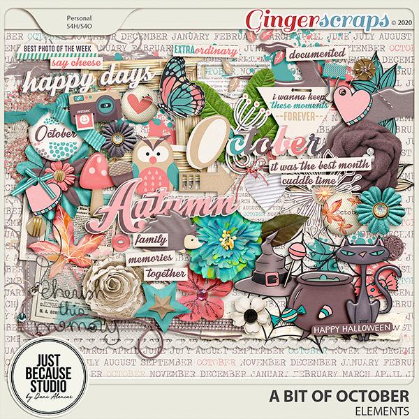 A Bit of October Elements by JB Studio