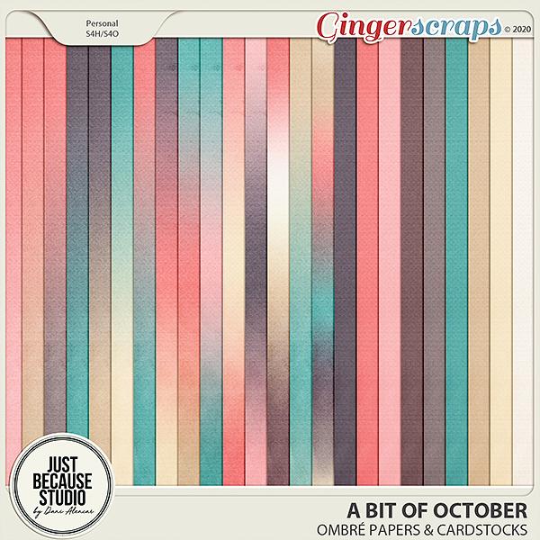 A Bit of October Ombré Papers & Cardstocks by JB Studio