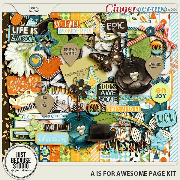 A Is For Awesome Page Kit by JB Studio