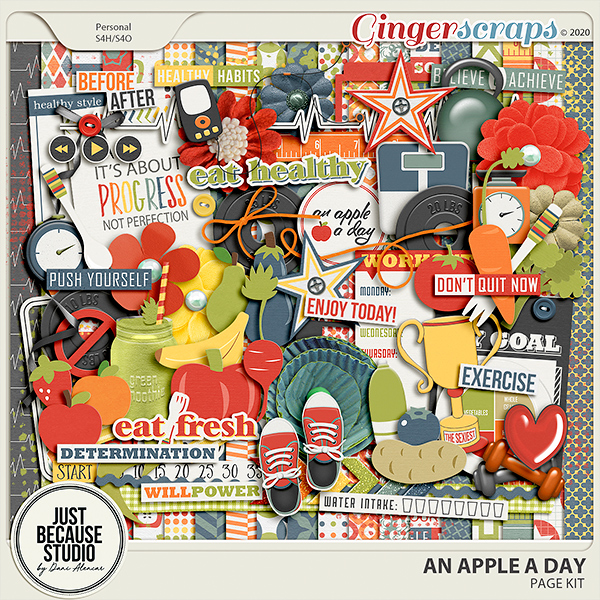 An Apple A Day Page Kit by JB Studio