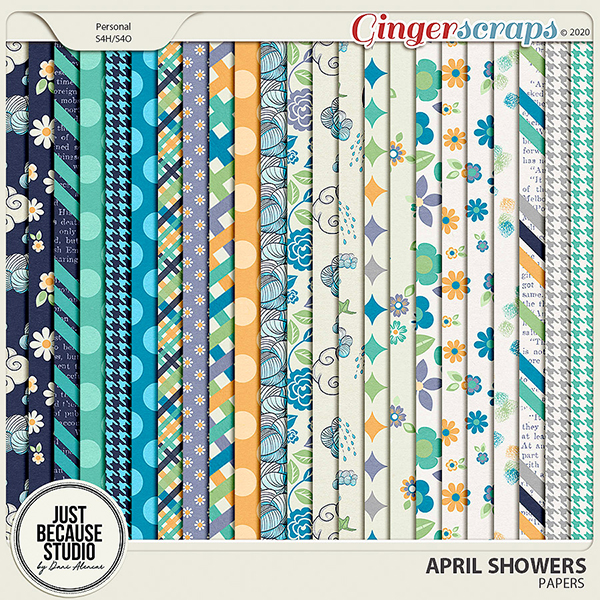 April Showers Papers by JB Studio
