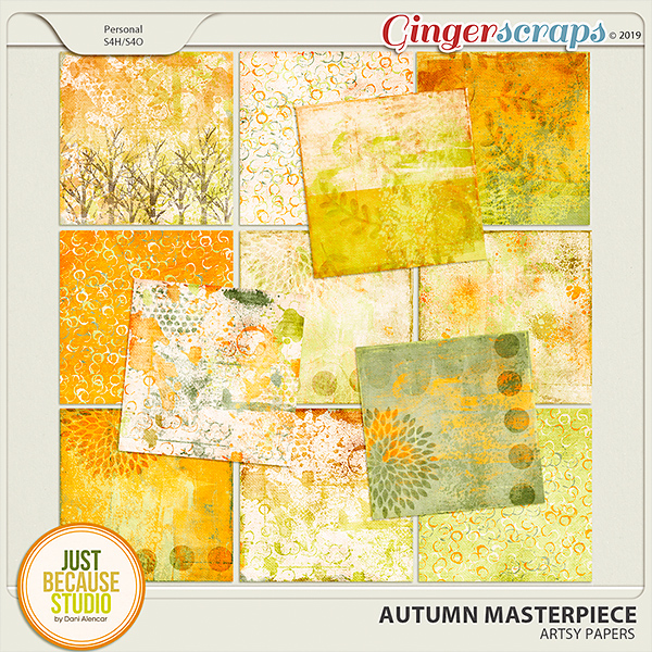 Autumn Masterpiece Artsy Papers by JB Studio