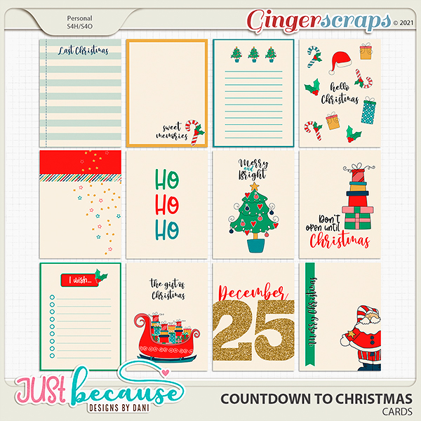 Countdown to Christmas Cards by Just Because Studio