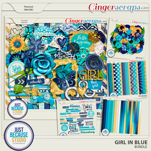 Girl In Blue Bundle by JB Studio
