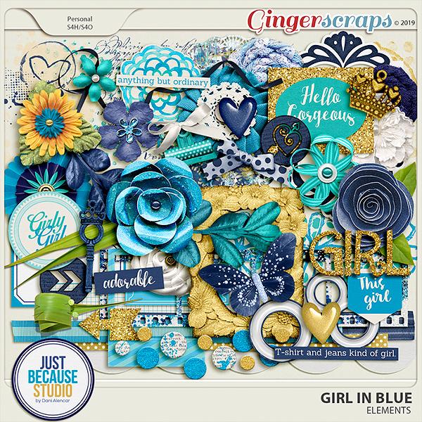 Girl In Blue Elements by JB Studio